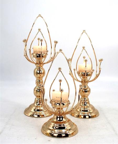 HOT WHOLESALE METAL CANDLE HOLDER FOR HOME DECORATION 91321