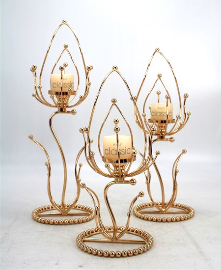 HOT WHOLESALE METAL CANDLE HOLDER FOR HOME DECORATION 91323