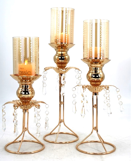 HOT WHOLESALE METAL CANDLE HOLDER FOR HOME DECORATION 91325