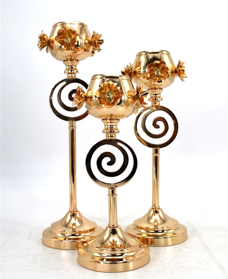 HOT WHOLESALE METAL CANDLE HOLDER FOR HOME DECORATION 91330