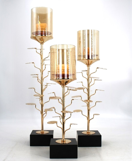 HOT WHOLESALE METAL CANDLE HOLDER FOR HOME DECORATION 91342