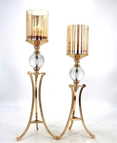 HOT WHOLESALE METAL CANDLE HOLDER FOR HOME DECORATION 91375