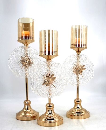 HOT WHOLESALE METAL CANDLE HOLDER FOR HOME DECORATION 91340