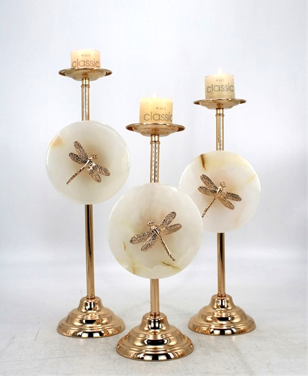 HOT WHOLESALE METAL CANDLE HOLDER FOR HOME DECORATION 91341